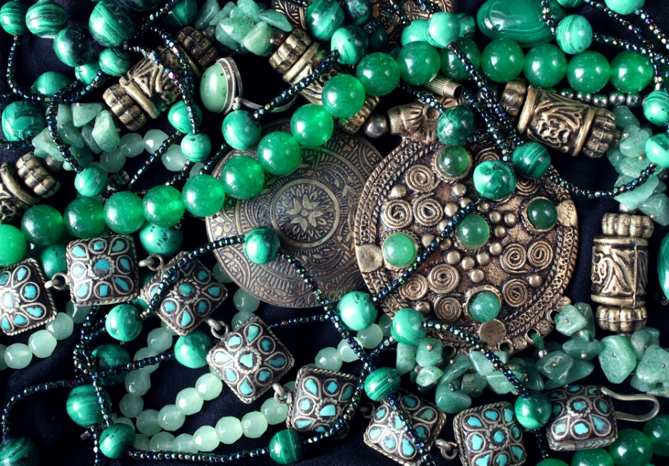 An image of jade jewellery