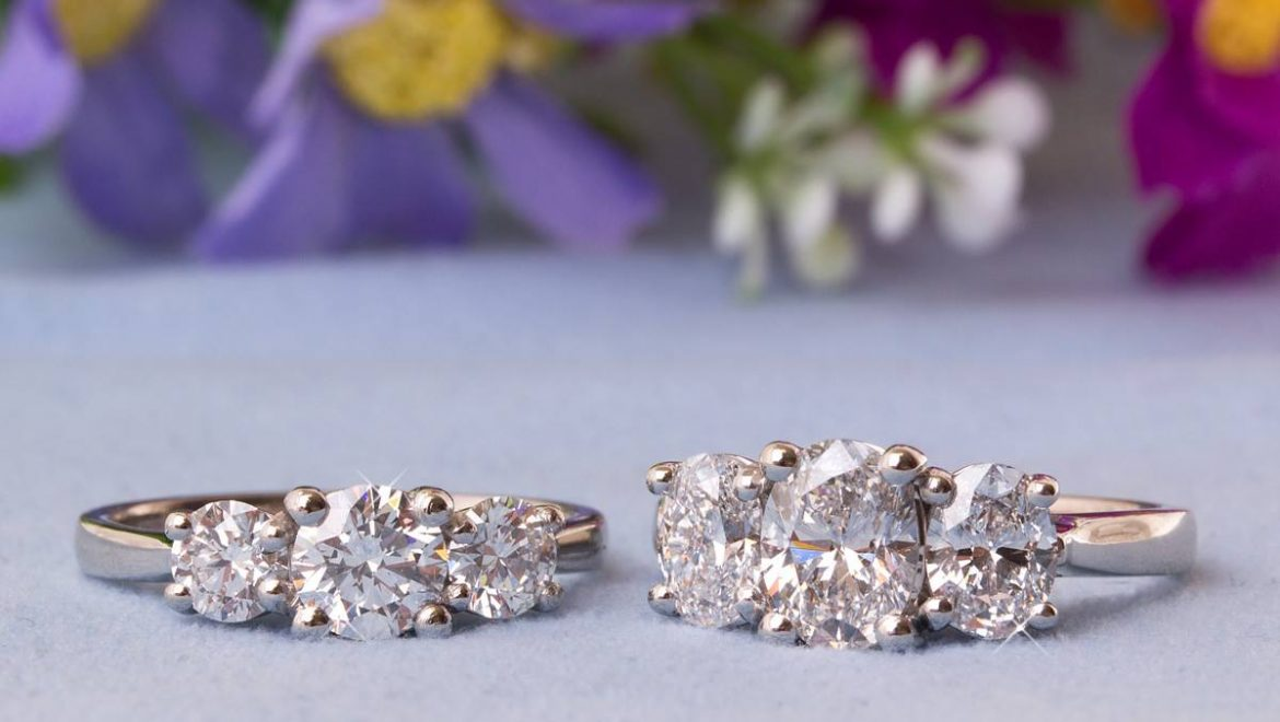 Three Stone Diamond Ring Inspirations that will bring sparkle this season