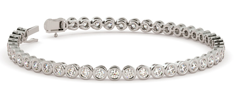 Williams Round cut Tennis Diamond Bracelet