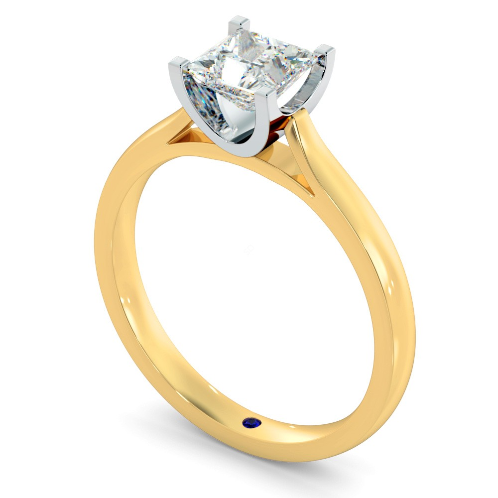 Princess Solitaire Diamond Ring in 18k Rose Gold