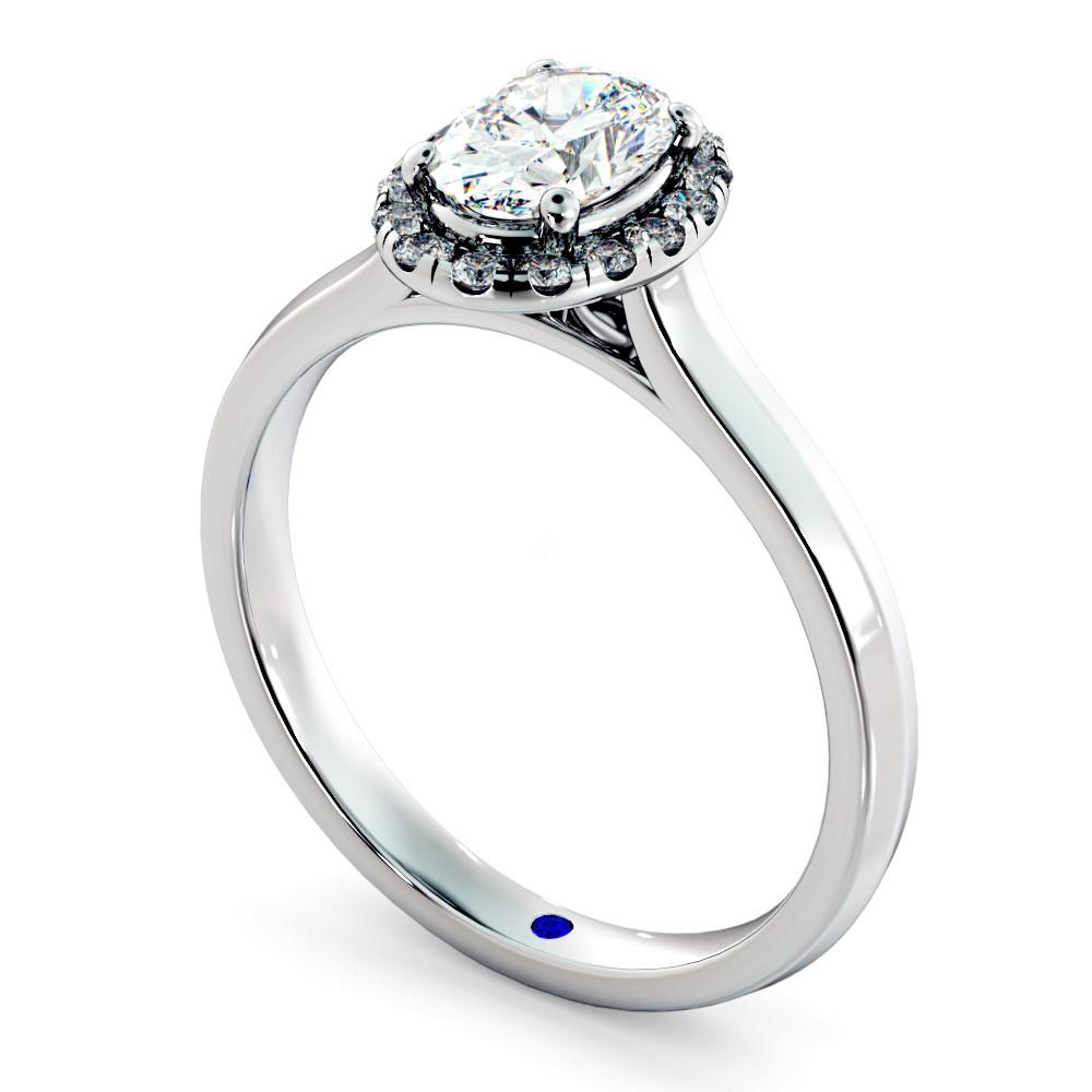 Oval Halo Diamond Ring