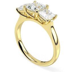 Princess Multi Stone Diamond Rings