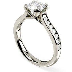 Round Shoulder Diamond Rings