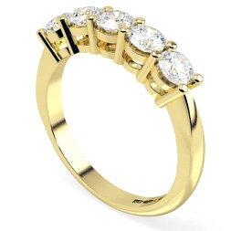 5 Stone Diamond Rings