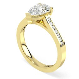 Other Cuts Shoulder Diamond Rings