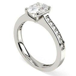 Oval Shoulder Diamond Rings