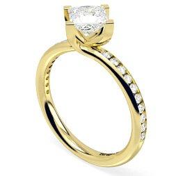Princess Shoulder Diamond Rings