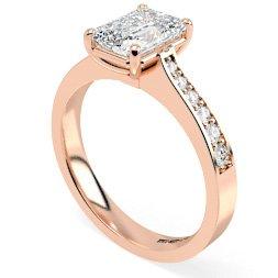 Emerald Shoulder Diamond Rings