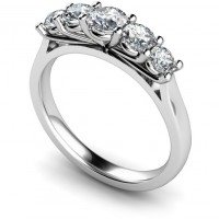 Round Multi Stone Diamond Rings