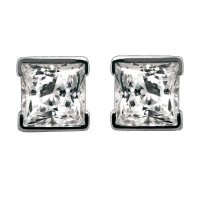 Princess Stud Diamond Earrings
