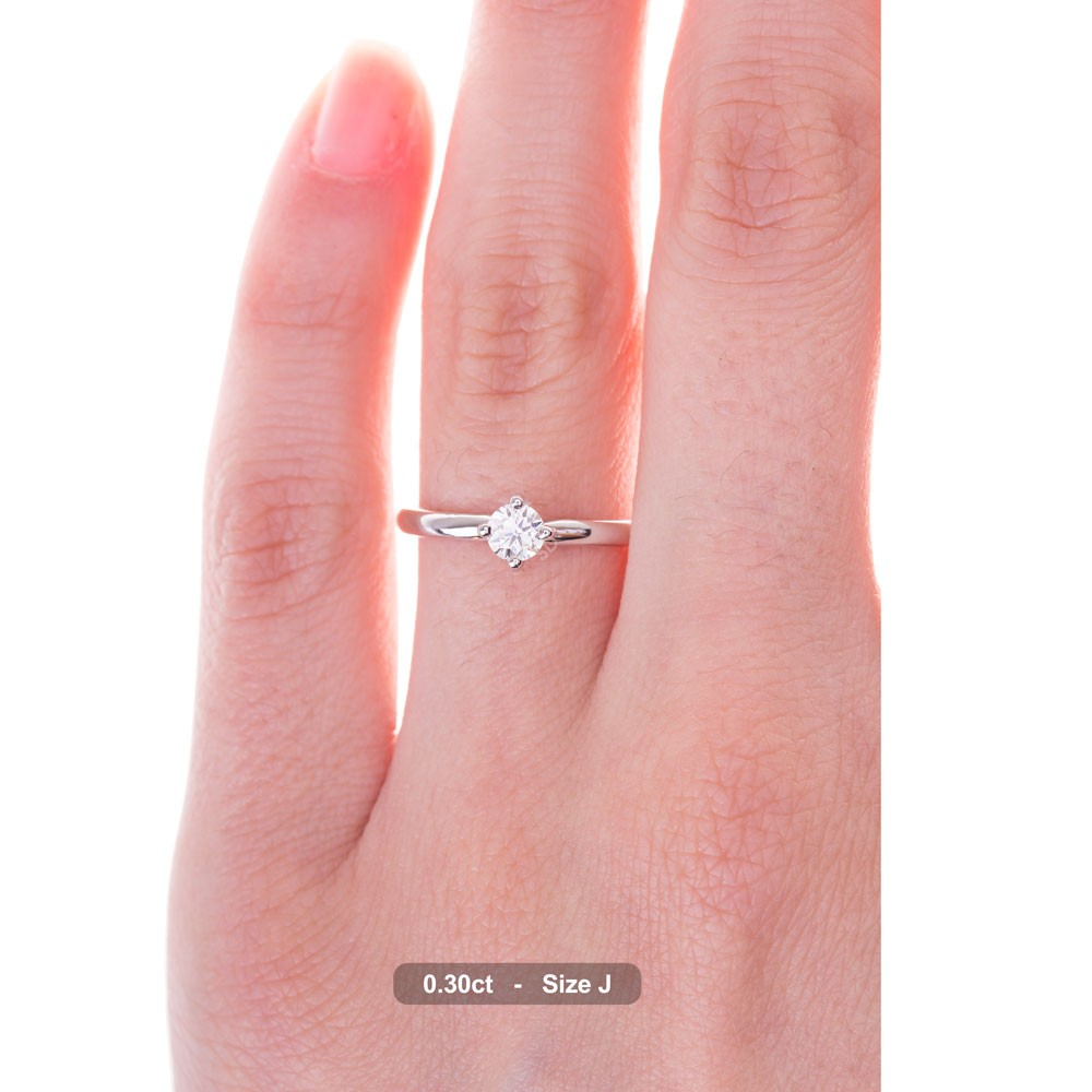 HRR480 Crossover Solitaire Diamond Ring | Shining Diamonds