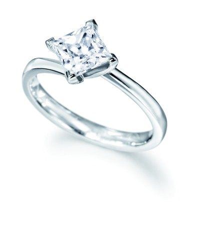 Princess Diamond Solitaire Engagement Ring 0.33ct  I SI1 - HRR8BAT1