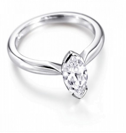 Marquise Diamond Engagement Ring 0.30ct G SI1 - HRM1BAT1