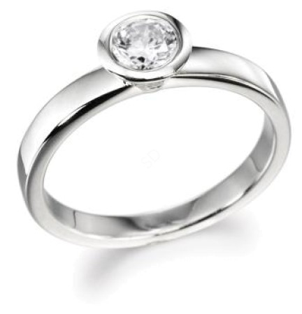 Round Diamond Engagement Ring 0.70ct G SI2 - HR10BAT1