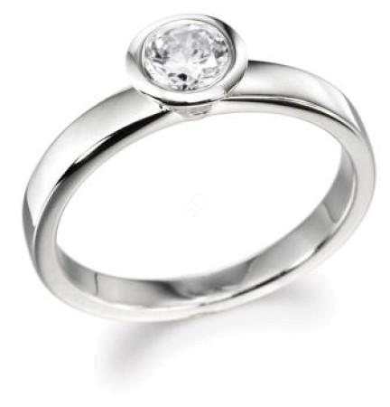 Round Diamond Engagement Ring 0.70ct G SI2 - HR10BAT1