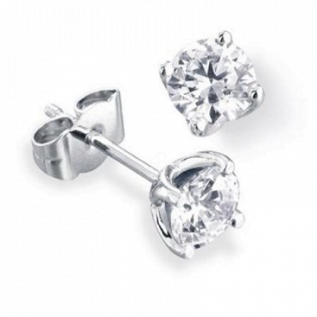 Round Diamond Stud Earring 0.5ct G SI2 - HER3BAT1