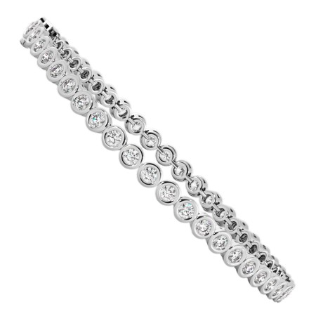 WILLIAMS Round cut Bezel set Diamond Tennis Bracelet - HBR004