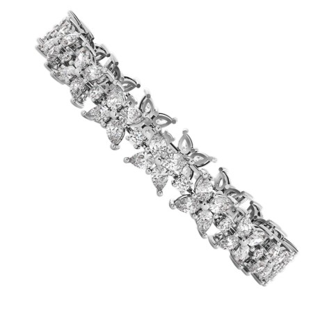 EVERT Pear & Round cut Diamond Mixed Doubles Tennis Bracelet - HBR014