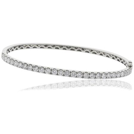Round cut Diamond Bangle - HBRDB056