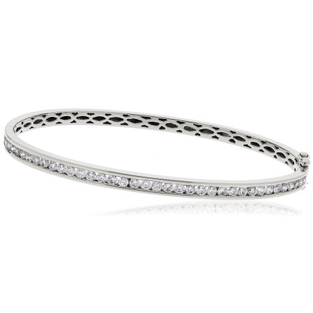 Channel Set Designer Diamond Bangle - HBRDB059