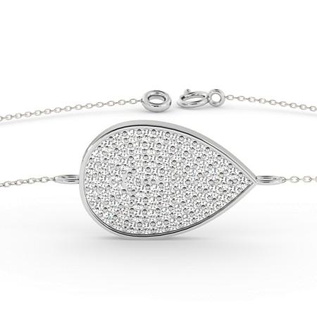 Tear Drop Designer Diamond Bracelet - HBRDR020
