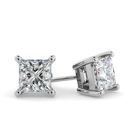Princess Stud Diamond Earrings - HEP30