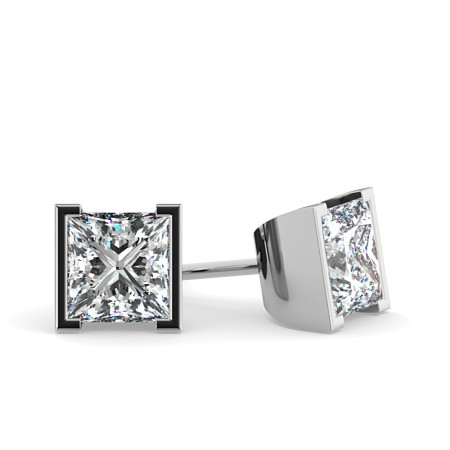Princess Stud Diamond Earrings - HEP31