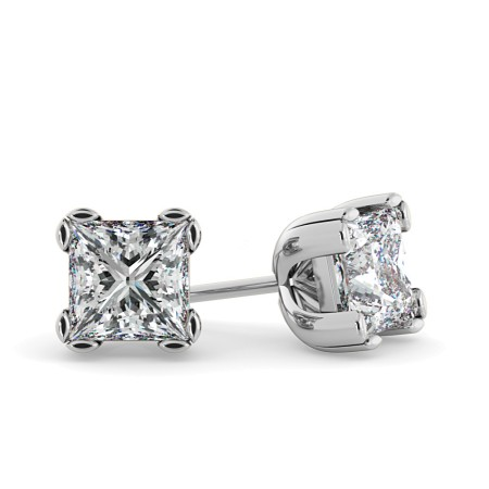 Princess Stud Diamond Earrings - HEP48