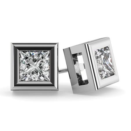 Princess Stud Diamond Earrings - HEP59