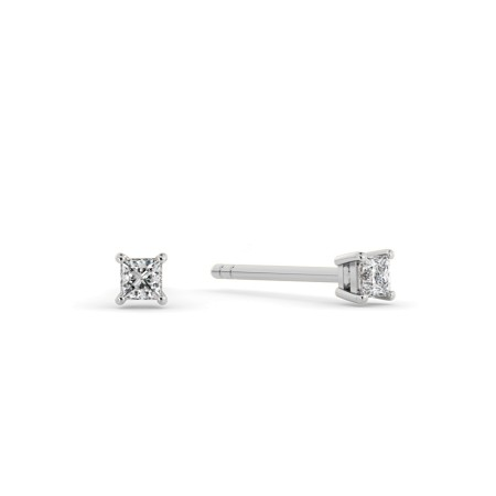 0.10ct Princess Stud Diamond Earrings - HEP93