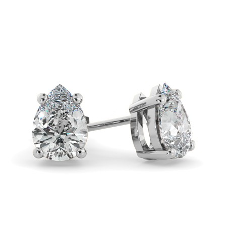 Pear Stud Diamond Earrings - HEPE51