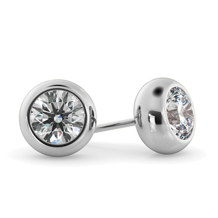 Round Stud Diamond Earrings - HER26