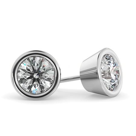 Round Diamond Stud Earrings - HER33