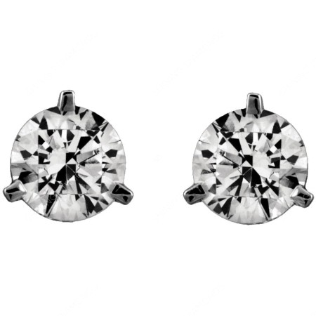 HER34 Round Stud Diamond Earrings - 0.40ct., VS2 clarity, F colour - HER34BAT2