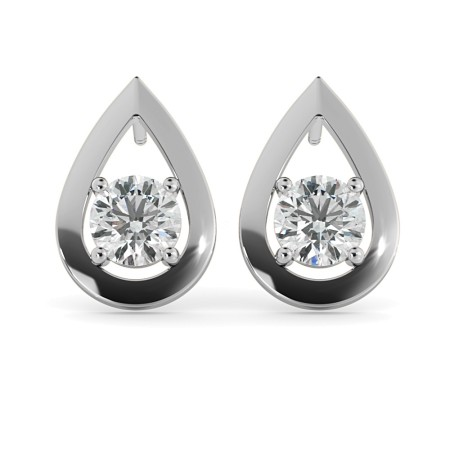 Round Stud Diamond Earrings - HER41
