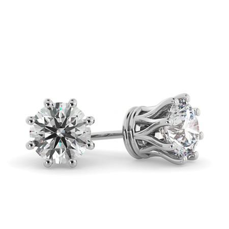 Round Stud Diamond Earrings - HER43