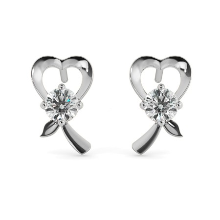 Round Stud Diamond Earrings - HER49