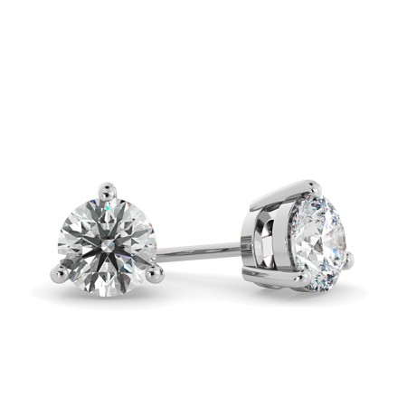 Round Stud Diamond Earrings - HER53