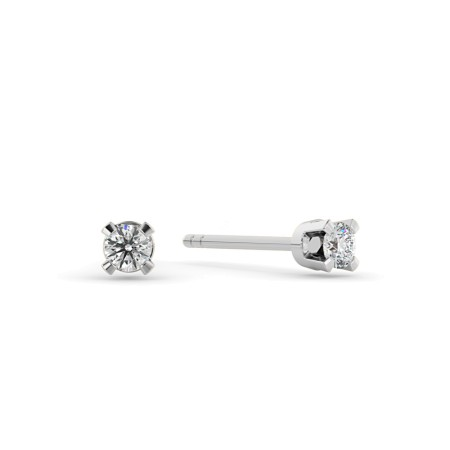 0.10ct Round cut Stud Diamond Earrings - Premium Quality Diamonds - HER57