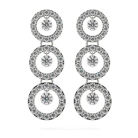 Round Designer Diamond Earrings - HERDR71
