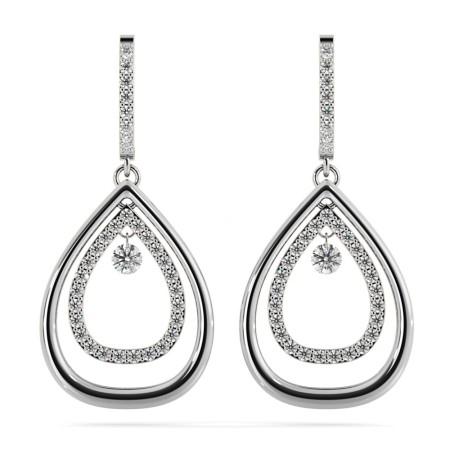 Round Designer Diamond Earrings - HERDR72