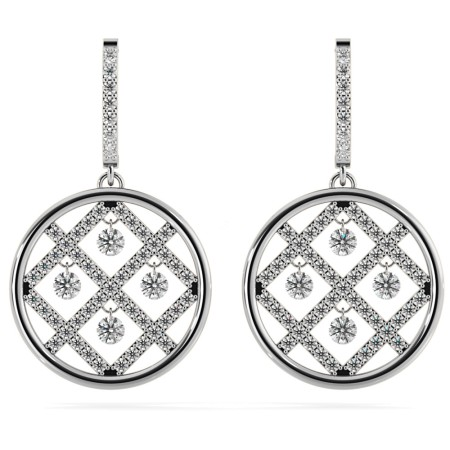 Round Designer Diamond Earrings - HERDR73