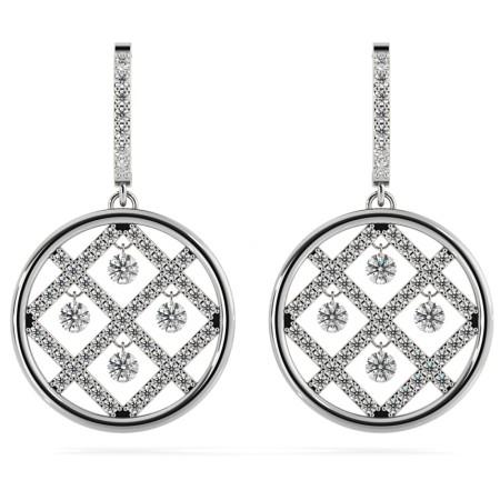 Round Designer Diamond Earrings - HERDR73