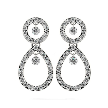 Round Designer Diamond Earrings - HERDR74