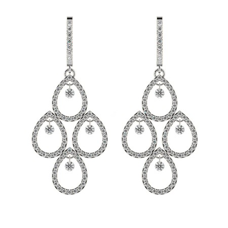 Round Designer Diamond Earrings - HERDR75