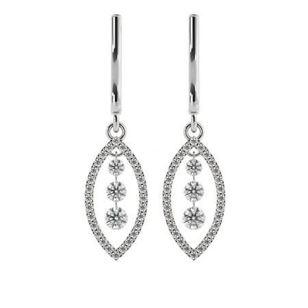 Round Designer Diamond Earrings - HERDR76