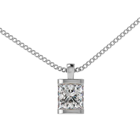 Princess Solitaire Diamond Pendant - HPP5
