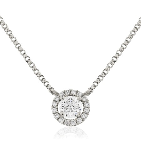 Round cut Designer Diamond Pendant - HPR146