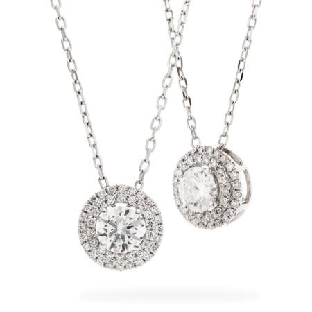 Round cut Designer Diamond Pendant - HPR149