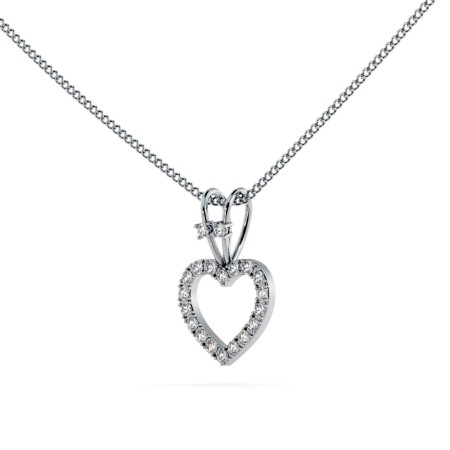 Round Heart Shape Diamond Pendant - HPR17